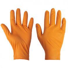 Supertouch Orange Disposable Nitrile Diamond Grip Gloves