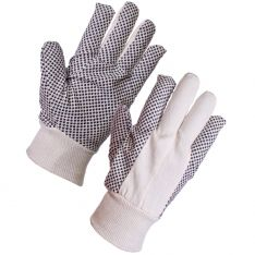 Supertouch Cotton Drill Polka Dot Gloves