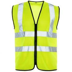 Supertouch Hi Vis Yellow Zip Vest