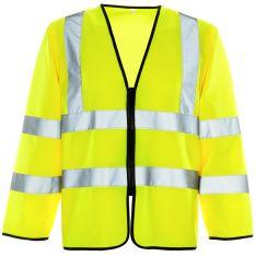 Supertouch Hi Vis Yellow Long Sleeved Zip Vest