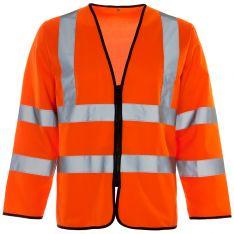 Supertouch Hi Vis Orange Long Sleeved Zip Vest