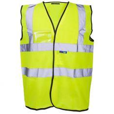 Supertouch Hi Vis Yellow Velcro ID Vest
