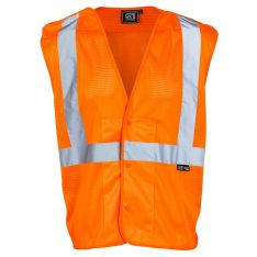 Supertouch Hi Vis Orange Mesh Vest