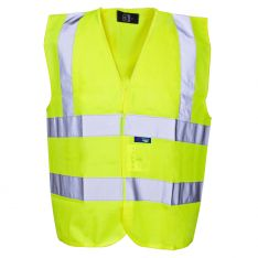Supertouch Hi Vis Yellow Builders Vest