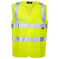 Supertouch Hi Vis Yellow Pull Apart Vest