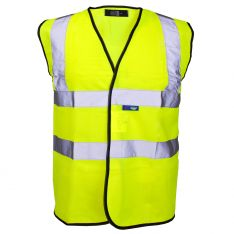 Supertouch Hi Vis Yellow Velcro Vest