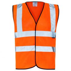 Supertouch Hi Vis Orange Velcro Vest