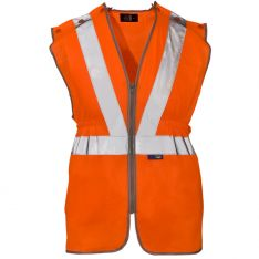 Supertouch Hi Vis Orange Polyester Long Tracker Vest