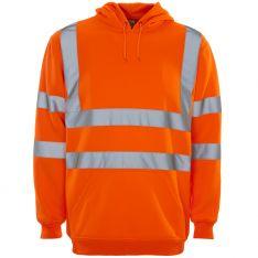 Supertouch Hi Vis Orange Hooded Sweatshirt