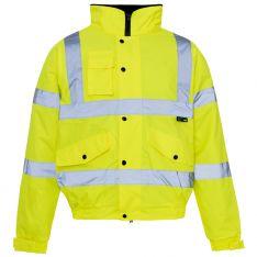 Supertouch Hi Vis Yellow Standard Storm Bomber Jacket