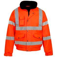 Storm-Flex® Hi Vis Orange PU Bomber Jacket