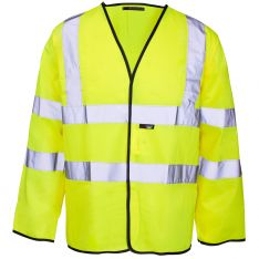 Supertouch Hi Vis Yellow Long Sleeved Velcro Vest