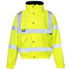 Supertouch Hi Vis Yellow Breathable 2 in 1 Bomber Jacket