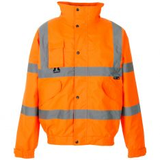 Supertouch Hi Vis Orange Breathable 2 in 1 Bomber Jacket