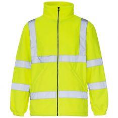 Supertouch Hi Vis Yellow Fleece Jacket