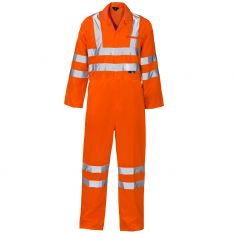 Supertouch Hi Vis Orange Coverall