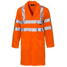 Supertouch Hi Vis Orange Coat
