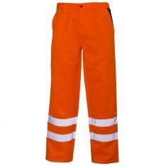 Supertouch Hi Vis Orange Polycotton Trousers