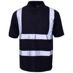 Supertouch Hi Vis Black/Navy Polo Shirt