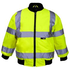 Supertouch Hi Vis Yellow Junior Bomber Jackets