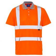Supertouch Hi Vis Orange Bird Eye Polo Shirt