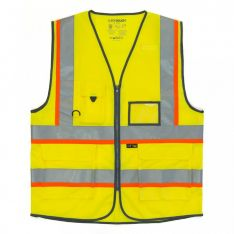 Supertouch Hi Vis Yellow Executive Vest