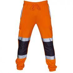 Supertouch Hi Vis Orange 2 Tone Jogging Bottoms