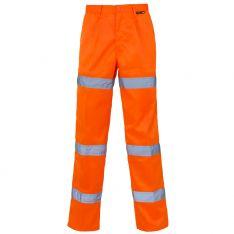 Supertouch Hi Vis Orange 3 Band Polycotton Trousers