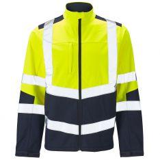 Supertouch Hi Vis 2 Tone Yellow Softshell Jacket