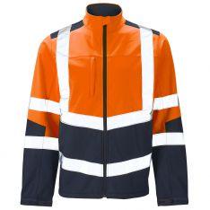 Supertouch Hi Vis 2 Tone Orange Softshell Jacket