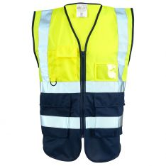 Supertouch Hi Vis Yellow 2 Tone Executive Vest