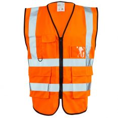 Supertouch Hi Vis Orange Executive Vest