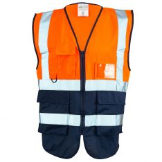 Supertouch Hi Vis Orange 2 Tone Executive Vest