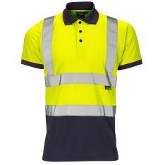 Supertouch Hi-Vis 2 Tone Yellow Polo Shirt