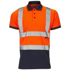 Supertouch Hi-Vis 2 Tone Orange Polo Shirt