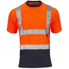Supertouch Hi-Vis 2 Tone Orange T-Shirt