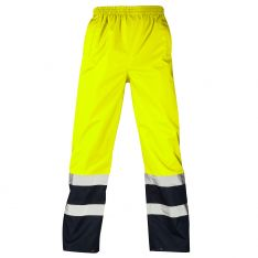 Supertouch Hi Vis Yellow 2 Tone Overtrousers