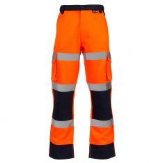 Supertouch Hi-Vis 2 Tone Orange Combat Trousers