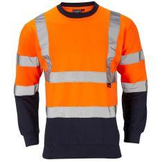 Supertouch Hi-Vis 2 Tone Orange Sweatshirt
