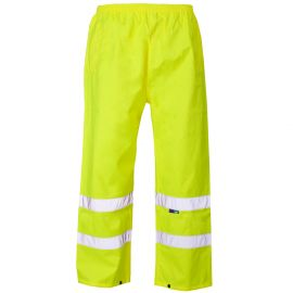 Supertouch Hi Vis Yellow Overtrousers