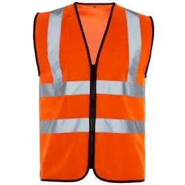Supertouch Hi Vis Orange Zip Vest