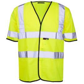 Supertouch Hi Vis Yellow Short Sleeved Vest