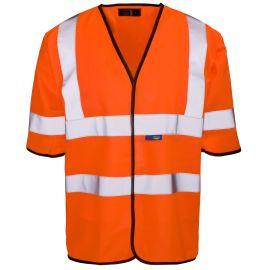 Supertouch Hi Vis Orange Short Sleeved Vest