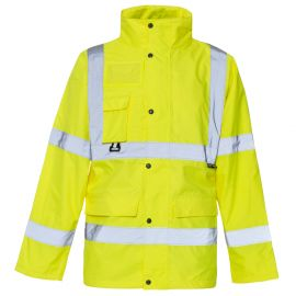 Supertouch Hi Vis Yellow Breathable Jacket