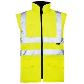 Supertouch Hi Vis Yellow Breathable Interactive Bodywarmer