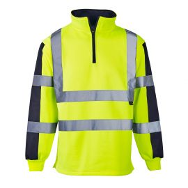 Supertouch Hi Vis 2 Tone Yellow Rugby Shirt
