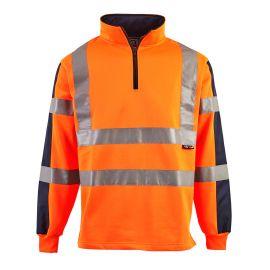 Supertouch Hi Vis 2 Tone Orange Rugby Shirt