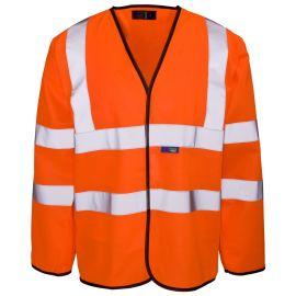 Supertouch Hi Vis Orange Long Sleeved Velcro Vest