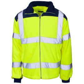 Supertouch Hi Vis Yellow Rain Patch Fleece Jacket