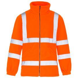 Supertouch Hi Vis Orange Fleece Jacket